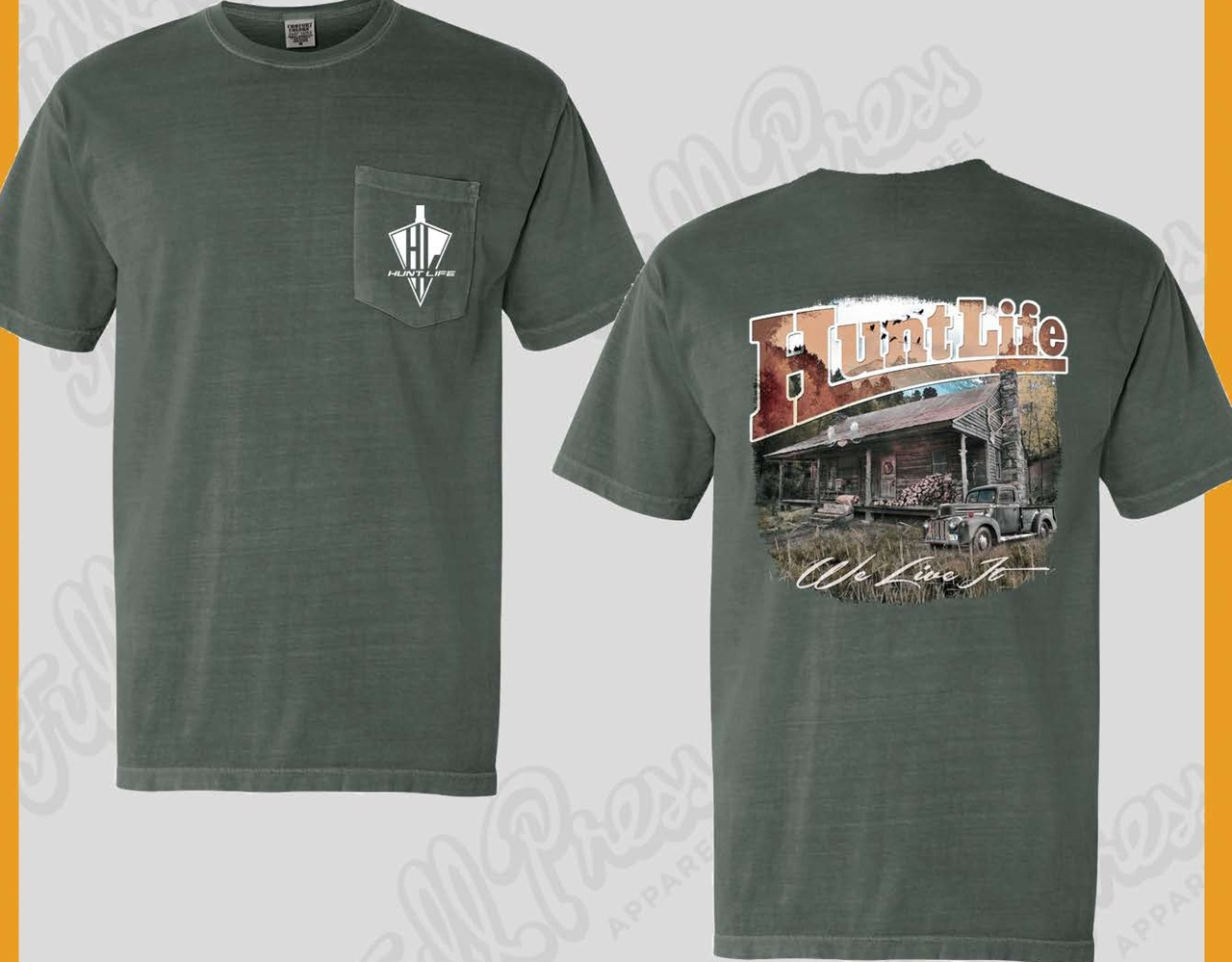 "Mens' Hunting Camp Shirt - ""We Don't Just Live Life, We Hunt Life"""