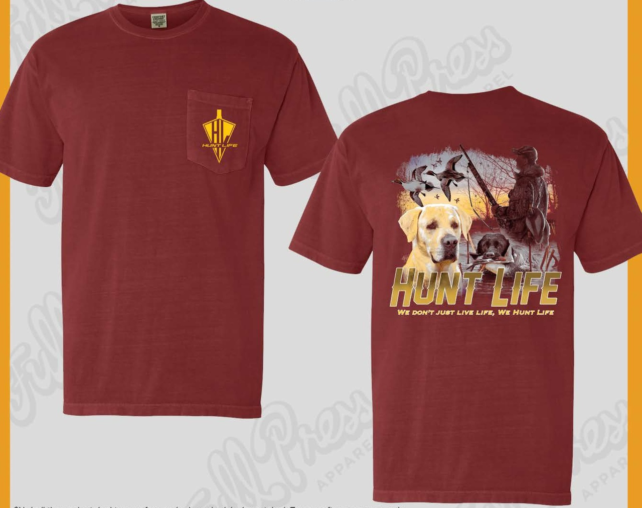 "Men's Duck Hunting Shirt - ""We Don't Just Live Life, We Hunt Life"""