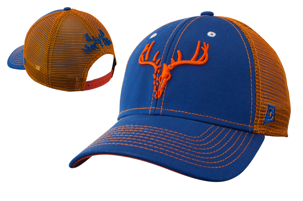 Orange and Blue Trucker